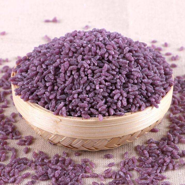 紫薯米营养丰富更比白米饭好吃 素食养生 第1张
